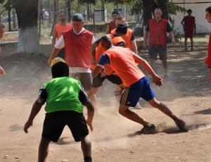 Футбол в поправителния дом